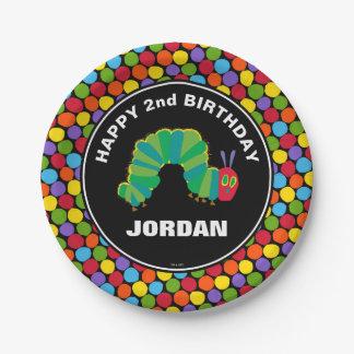 Chalkboard Hungry Caterpillar | Happy Birthday Paper Plate