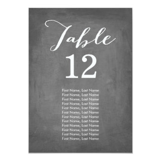 Chalkboard Individual Table Cards