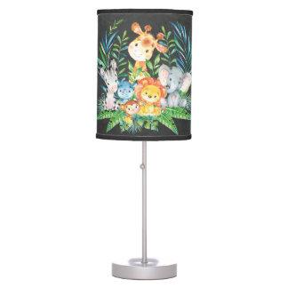 Chalkboard Junglel Baby Girl   Boy Nursery Lamp