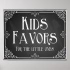 Chalkboard Kids sweet favour table Print