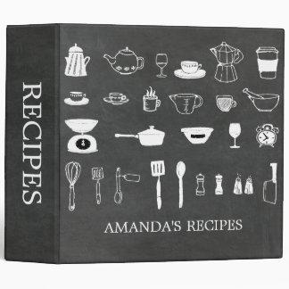 Chalkboard Kitchen Bridal Shower Recipe Binder