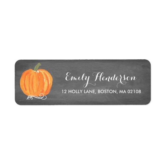 Chalkboard Little Pumpkin Address Label