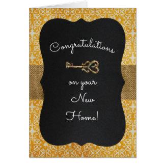 Chalkboard Lock & Key Housewarming Card
