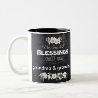 "Chalkboard Look ""Our Greatest Blessings Mug"