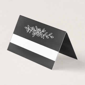 Chalkboard Look Wedding Folded Place Card