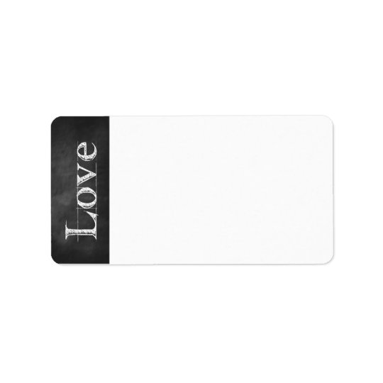 Chalkboard Love Address Labels