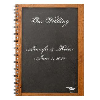 Chalkboard Love Bird Wedding Notebook