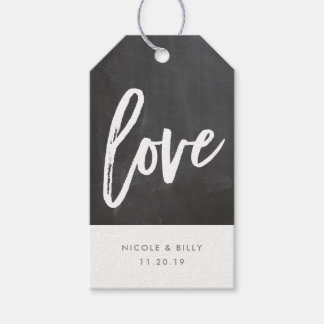 Chalkboard Love Gift tag