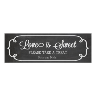 Chalkboard Love is Sweet Sign
