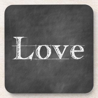 Chalkboard Love Wedding Favor Coasters