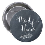 Chalkboard Maid of Honour Button