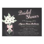 "Chalkboard Mason Jar Bridal Shower Invitation PINK 4.5"" X 6.25"" Invitation Card"