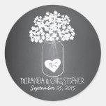 Chalkboard Mason Jar Personalized Favour Stickers