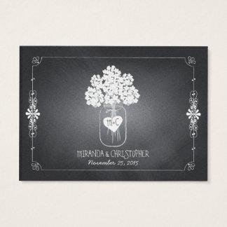 Chalkboard Mason Jar Wedding Seating Place Card