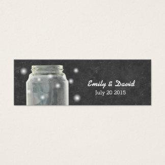 Chalkboard Mason Jar Wedding Website Insert Card