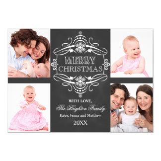 "Chalkboard Merry Christmas Holiday Photo Card 5"" X 7"" Invitation Card"