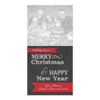Chalkboard Merry Christmas Photo Christmas Card