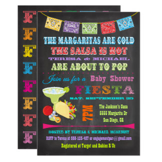 Chalkboard Mexican Fiesta Couples Baby Shower Card