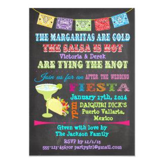 Chalkboard Mexican Fiesta Post Wedding Card