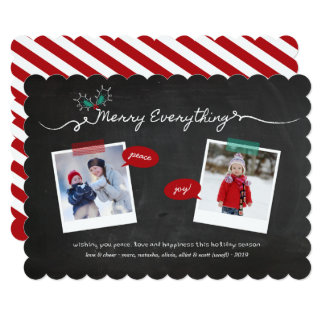 Chalkboard Mistletoes Christmas Holiday Photo Card
