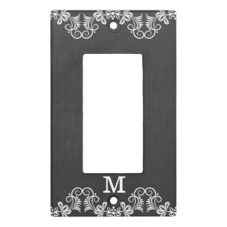 Chalkboard Monogram Initial Light Switch Cover