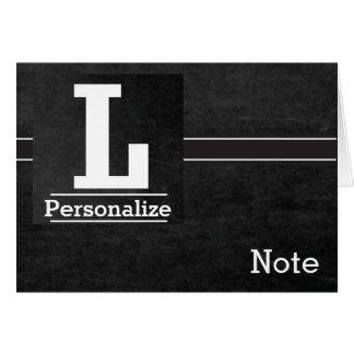 Chalkboard Monogram Letter L Card