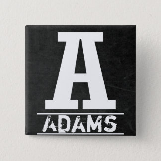 Chalkboard Monogram Letters 2 Inch Square Button
