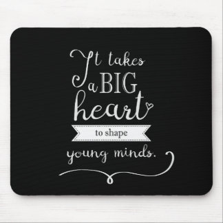 """Chalkboard"" Mousepad with a Quote for Teachers"