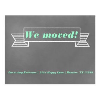 Chalkboard Moving Announcement Postcard