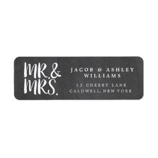 Chalkboard Mr. & Mrs. Return Address Labels