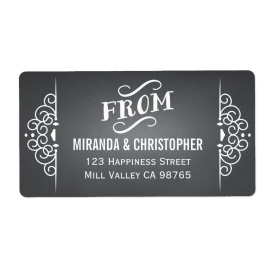 Chalkboard Personalized Return Address Labels
