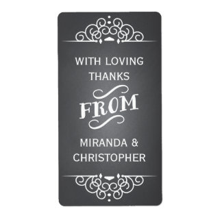 Chalkboard Personalized Thank You Favor Labels