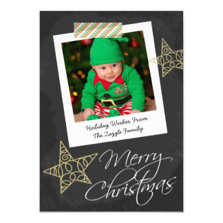 Chalkboard Photo Frame And Tape Christmas Card