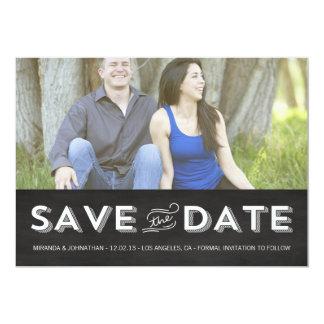 Chalkboard Photo Save The Date Invites