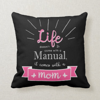"""Chalkboard"" Pillow with a Quote for Mom"