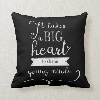 """Chalkboard"" Pillow with a Quote for Teachers"