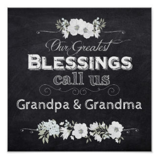 "Chalkboard Poster-Our Greatest Blessings 12 x12"" Poster"