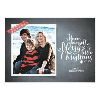 "Chalkboard Red Washi Tape Script Holiday Card 5"" X 7"" Invitation Card"