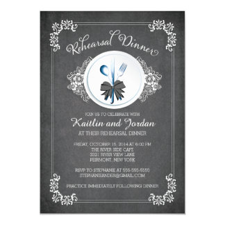 Chalkboard Rehearsal Dinner Party Invitation