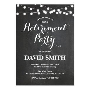 Retirement party invitations announcements zazzle ca chalkboard retirement party invitation card stopboris Images