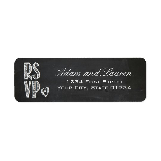 Chalkboard RSVP Address Labels