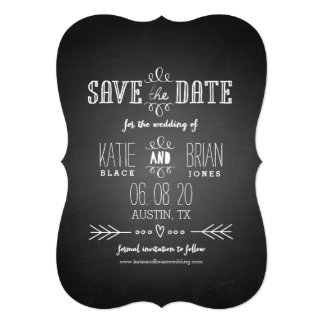 Chalkboard Save the Date Announcement