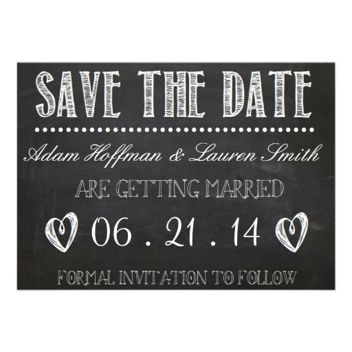 Chalkboard Save the Date Invitation