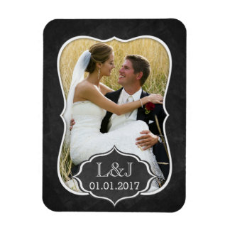 Chalkboard Save the Date magnet photo magnet