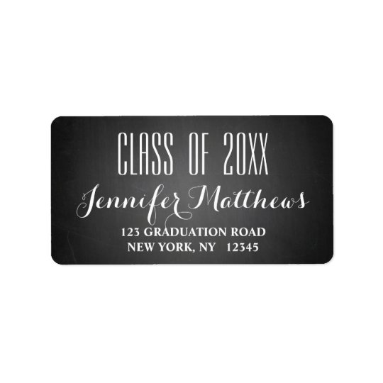 Chalkboard Script | Graduation Address Label