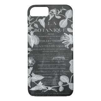 chalkboard scripts french botanical art ivy leaves iPhone 8/7 case