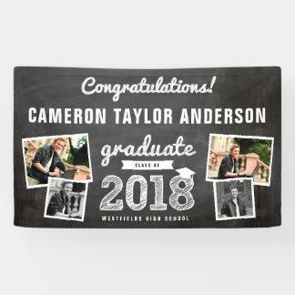 Chalkboard Sketch 2018 Photo Collage Grad Banner