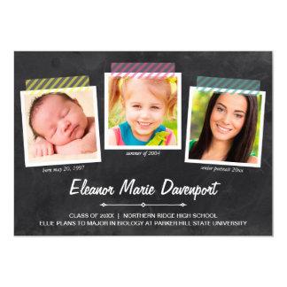 Chalkboard Snapshots   Photo Graduation Party Cards