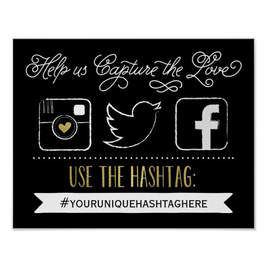 Chalkboard social media hashtag wedding decor for Decor hashtags