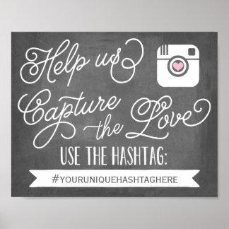 Chalkboard Social Media Hashtag | Wedding Decor Poster